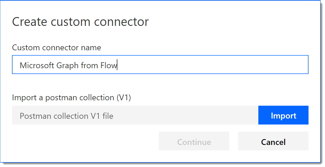 Create a Custom Flow Connector for the Microsoft Graph