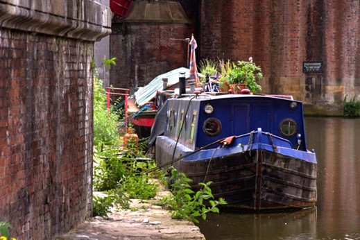 Canal boats in Manchester