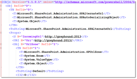 XML Object from PowerShell