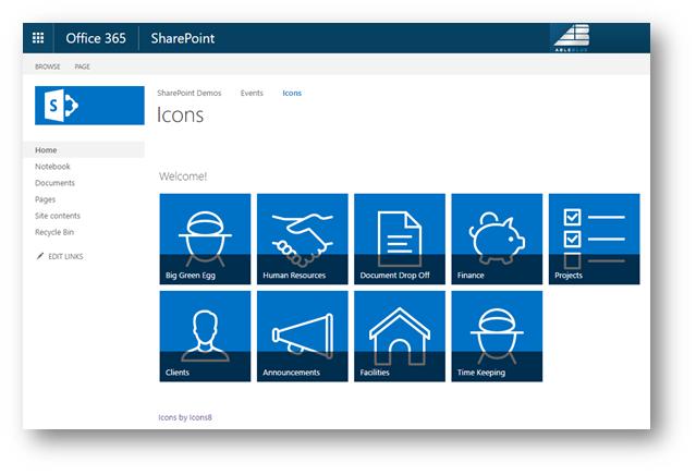 Duplicating SharePoint Icon Navigation | AbleBlue LLC